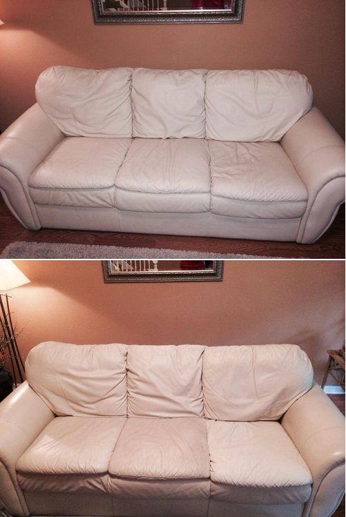 Fibrenew Tampa Cleaned And Conditioned A Leather Sofa For Customer In Brandon Florida Our