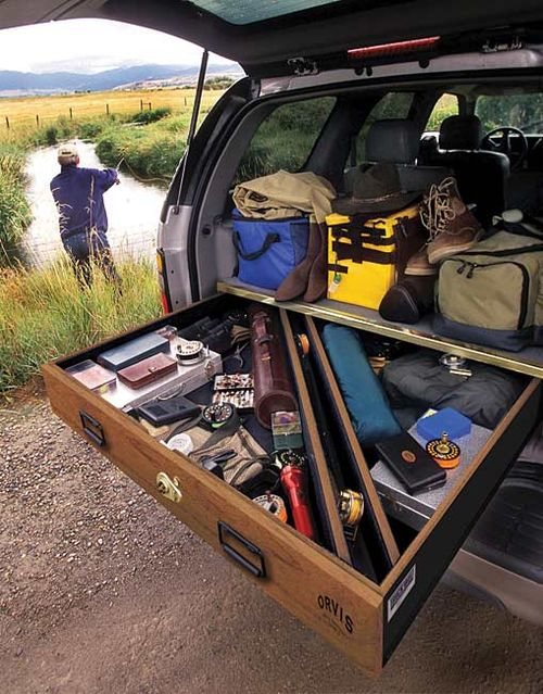First Thing Im Going To Make For My Car Suv Storage Fishing Storage Fly Fishing Gear