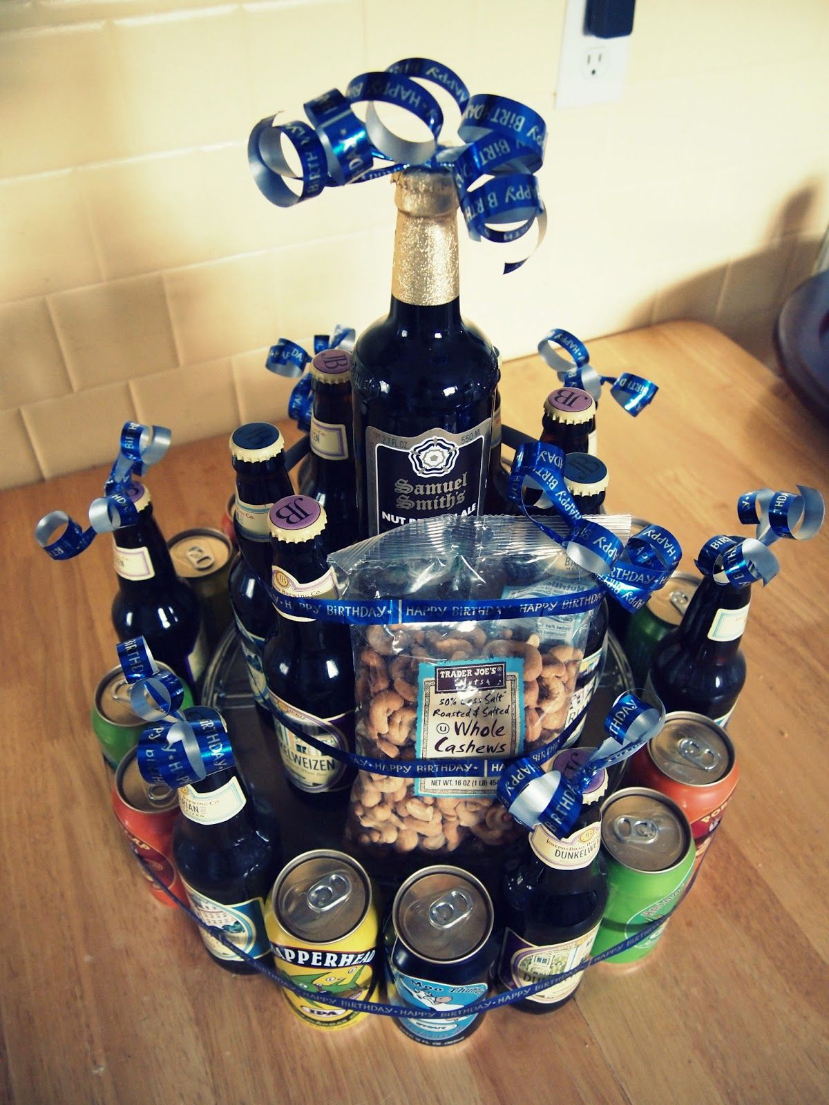 Man Birthday Idea Birthday Beer Cake Tower 123