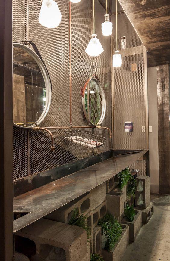 decoracion industrial para baño, Decoracion industrial, decoración