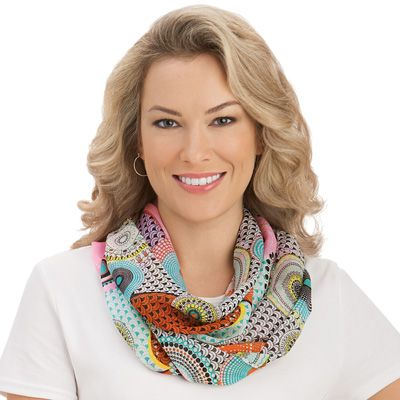 Abstract Circles Lightweight Infinity Scarf