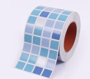 Waistline Wall Sticker Bathroom Pvc Wallpaper Kitchen Waterproof Mosaic Tile Stickers Border Adesivo De Parede