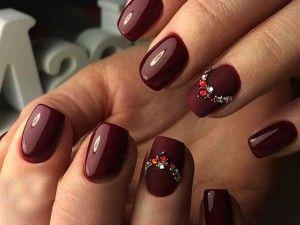 марсала цвет ногтей фото