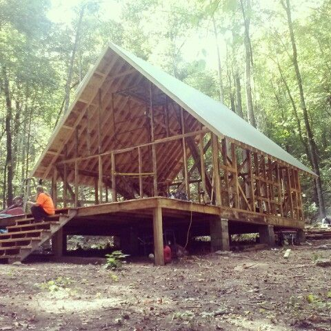 24x24 cabin in the making house home pinterest for 24x24 modern house