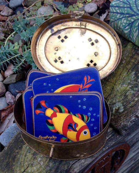 FREE SHIPPING..Vintage Souvenir Australia Indigo by ellansrelics02
