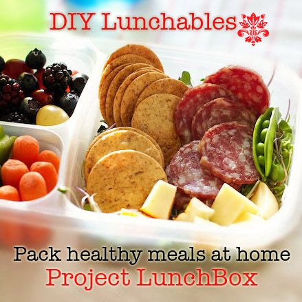 Do it yourself healthy salami, cheese Lunchables ...