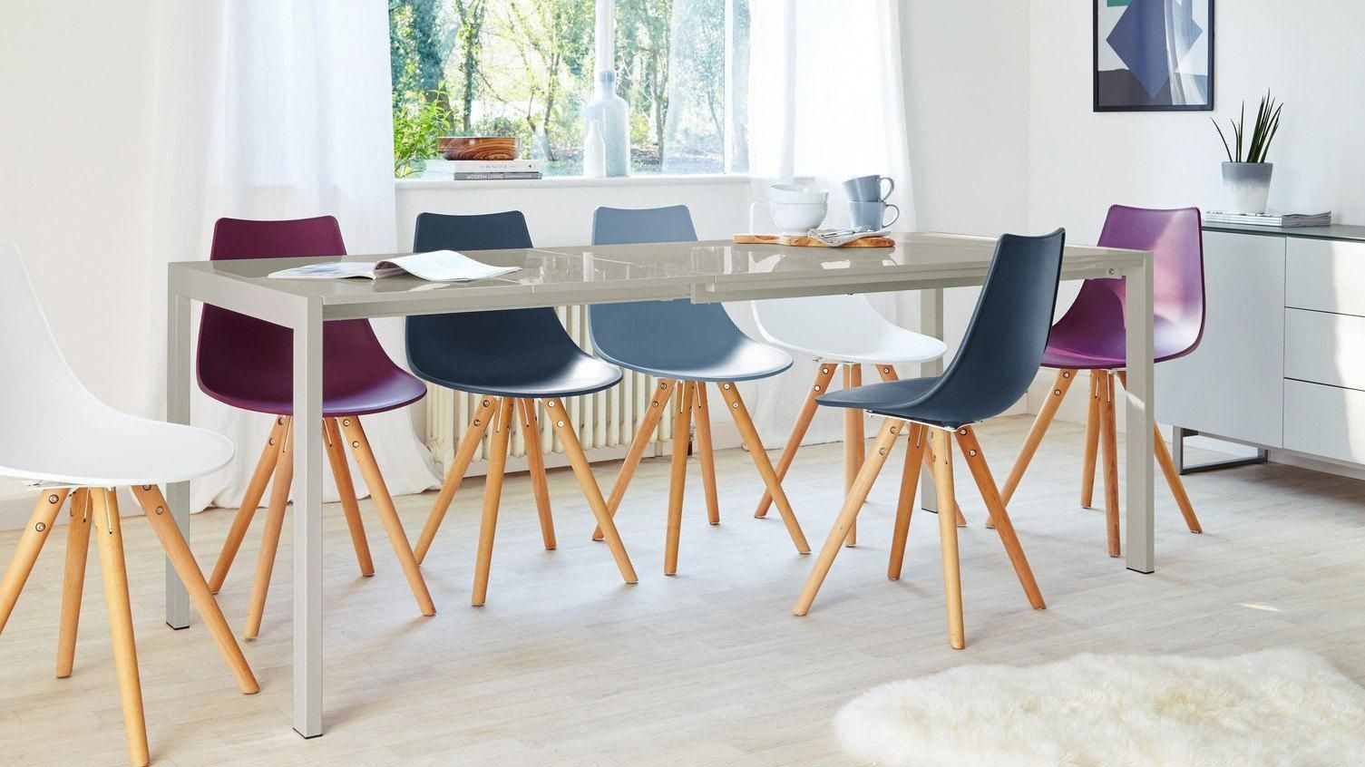 Modern Grey And White Extending Dining Table 8 Seater Uk Woodendiningchairs Modern Dining Table White Extending Dining Table Extendable Dining Table