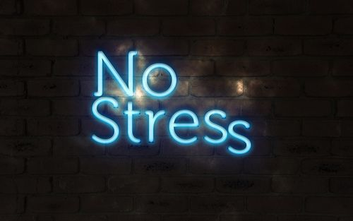 No stress neon | Neon quotes, Neon words, Neon signs