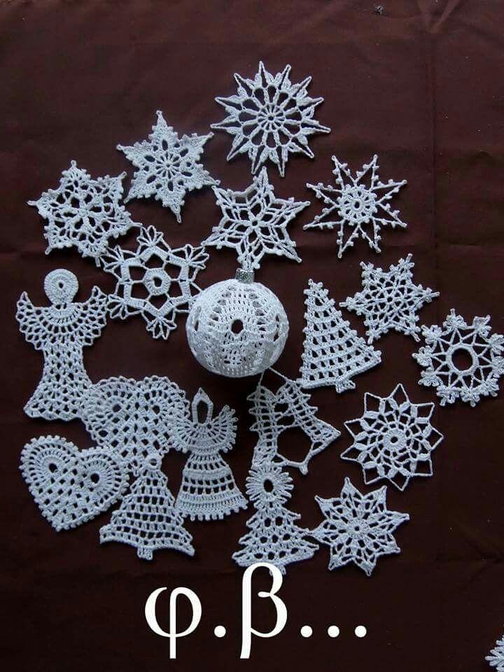 Pin de Sylvia Carr en crochet | Pinterest | Adornos de navidad ...
