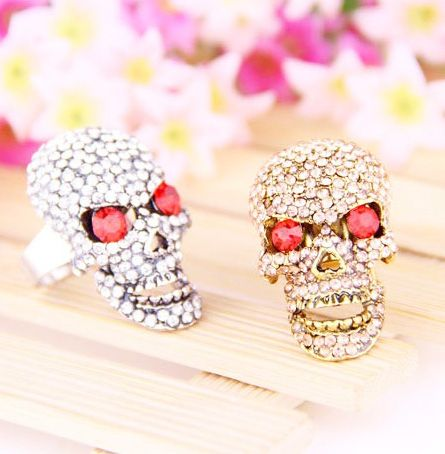 Yasurs™ 2014 New Arrived Fashion Personality Skull Inlay Full Rhinestone Punk Ring. http://www.yasurs.com/yasurstm-2014-new-arrived-fashion-personality-skull-inlay-full-rhinestone-punk-ring.html #jewelry