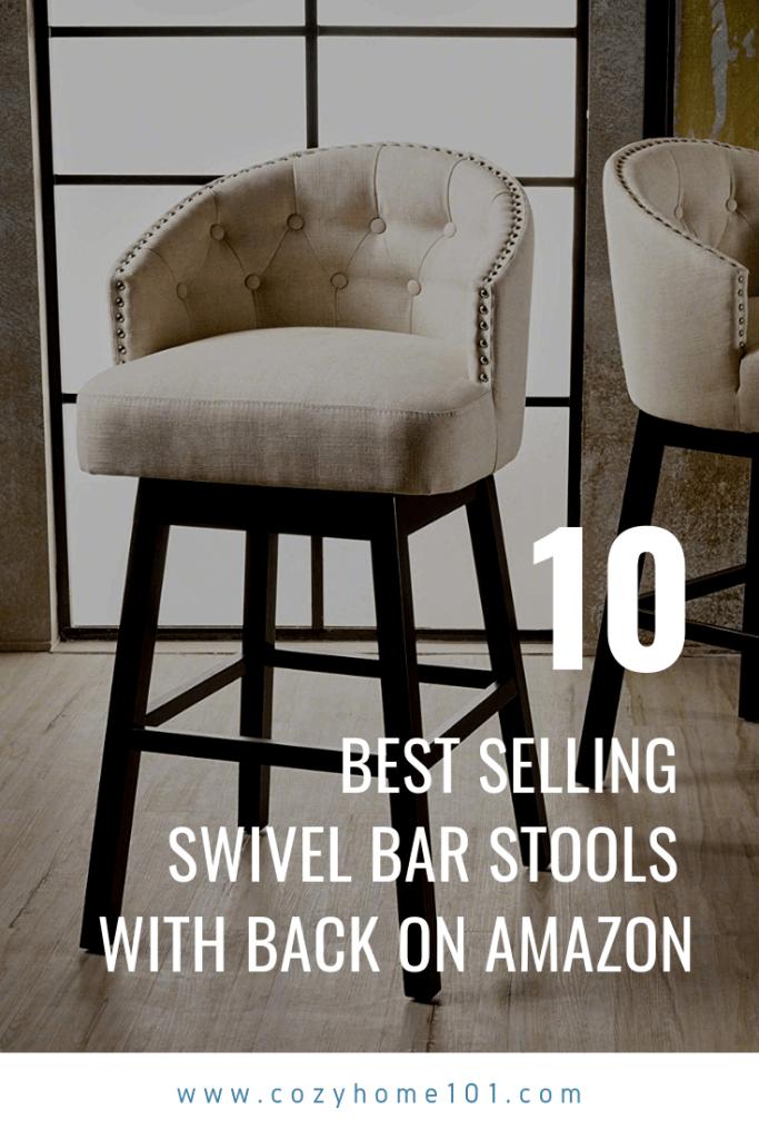 10 Best Selling Swivel Bar Stools With Back On Amazon In 2019 Bar Stools With Backs Bar Stools Stools With Backs