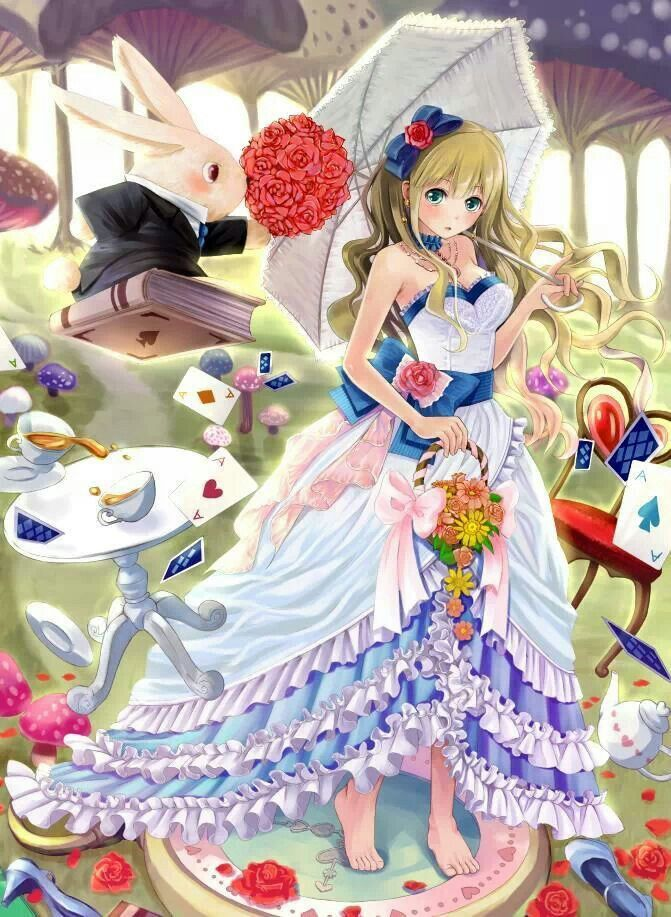 Alice in wonderland anime version awesome アリス, 結婚してください