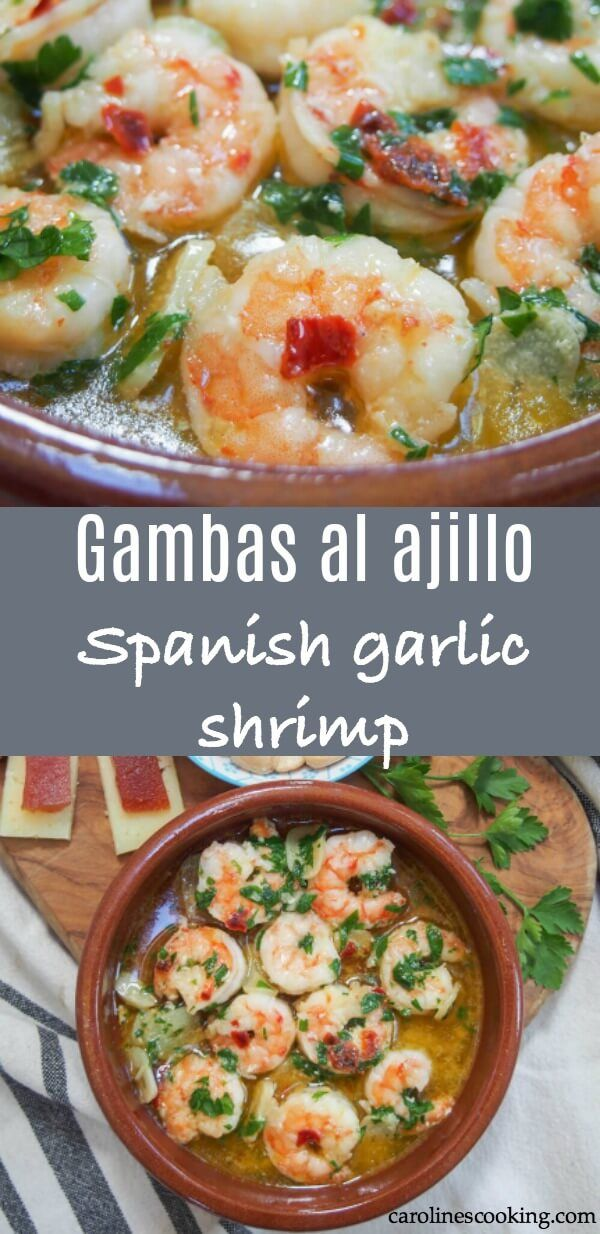 Gambas al ajillo (Spanish garlic shrimp) - Caroline's Cooking