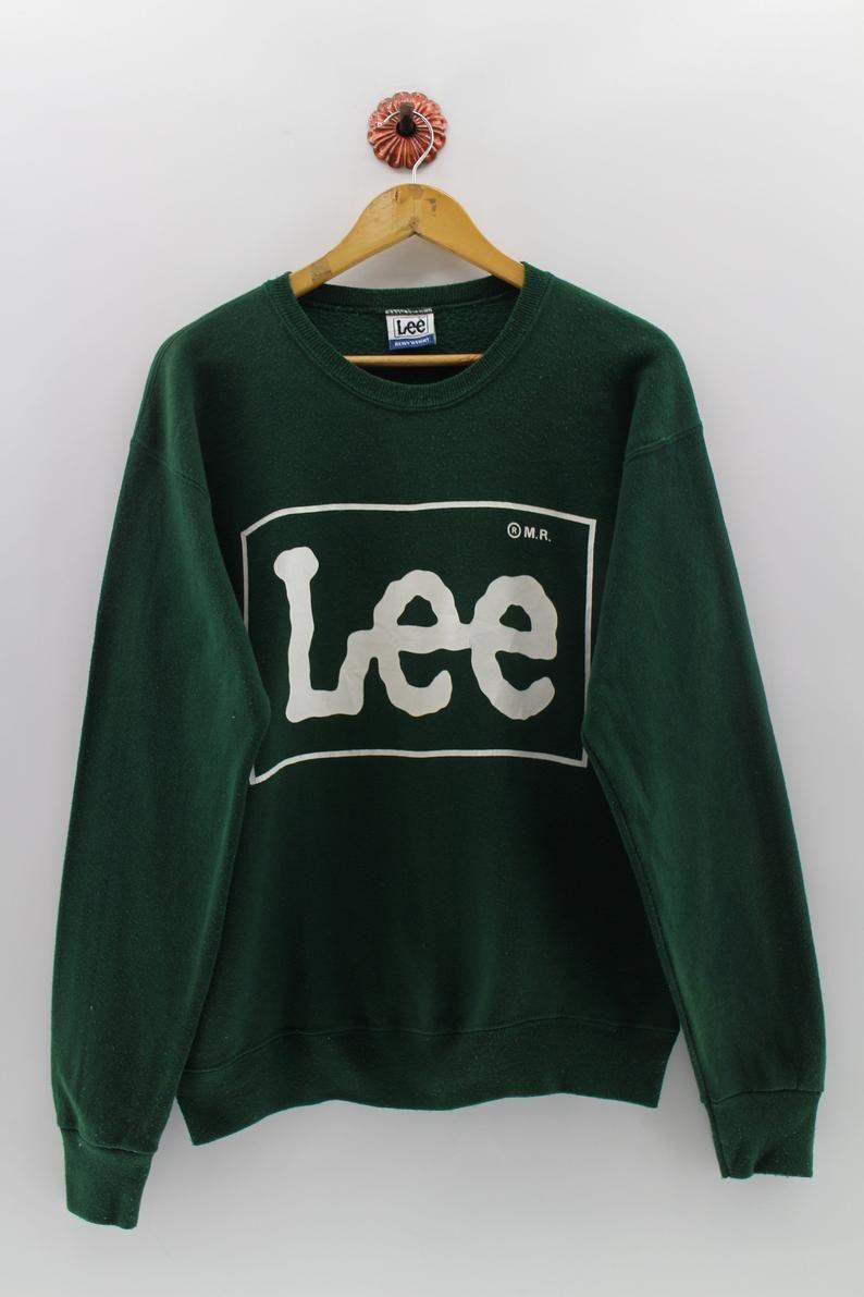Vintage Lee Pullover Jumper Unisex Medium Lee Spell Out Big Etsy Sweatshirts Pullover Used Clothing [ 1191 x 794 Pixel ]