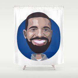 Drake Rapper Artwork Shower Curtain