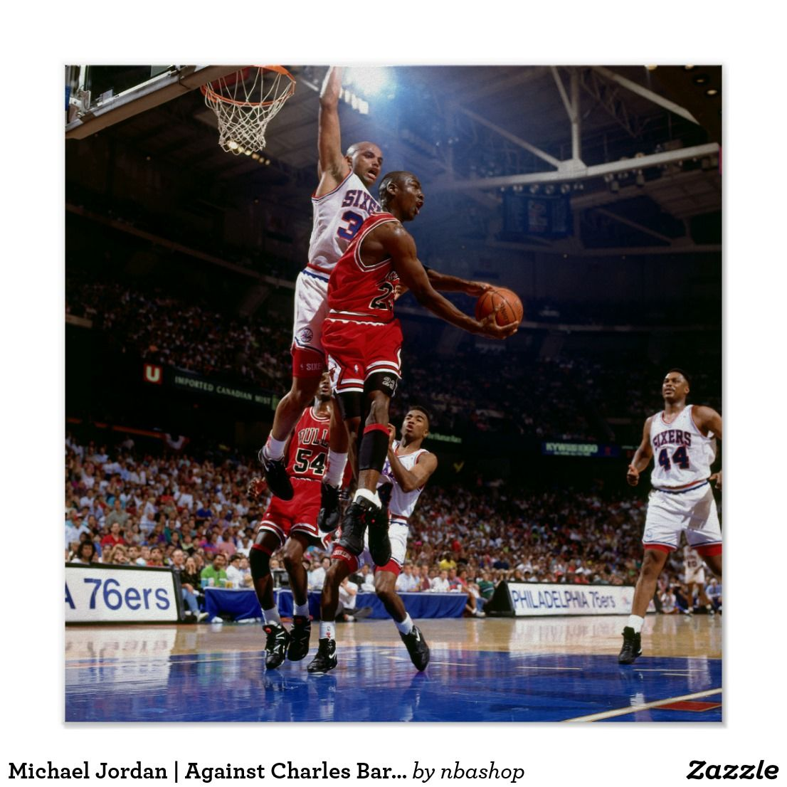 Michael jordan against charles barkley print michael