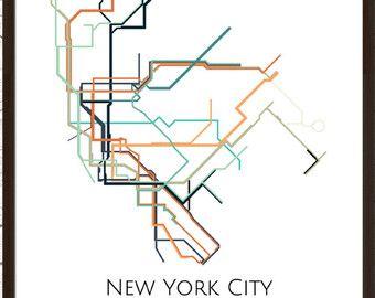 New York Subway Map Art.Nyc Subway New York Subway Map New York Metro Map Map Art Art