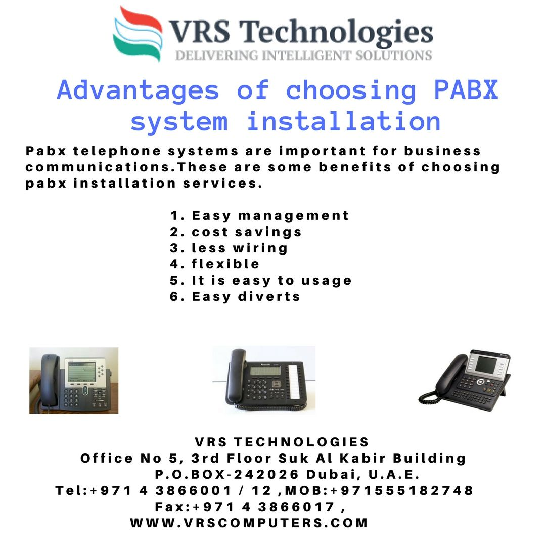 whether you need a simple office pabx system installation or a complex telephone system vrs technologies can design it for your business  [ 1080 x 1080 Pixel ]