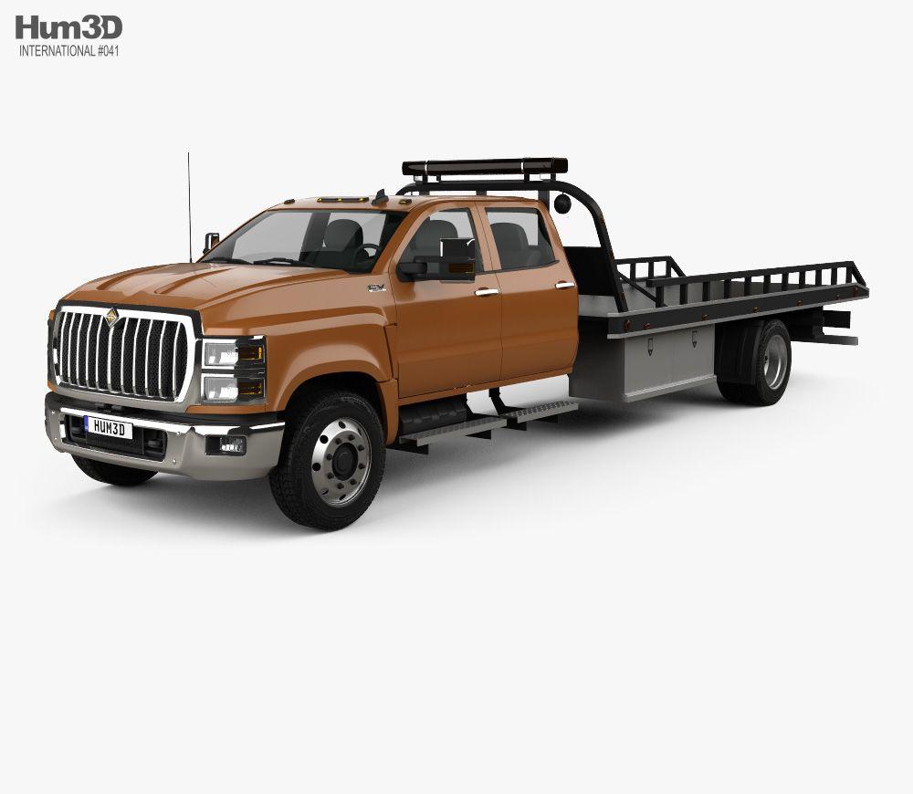 3D model of International CV Crew Cab Rollback Truck 2018