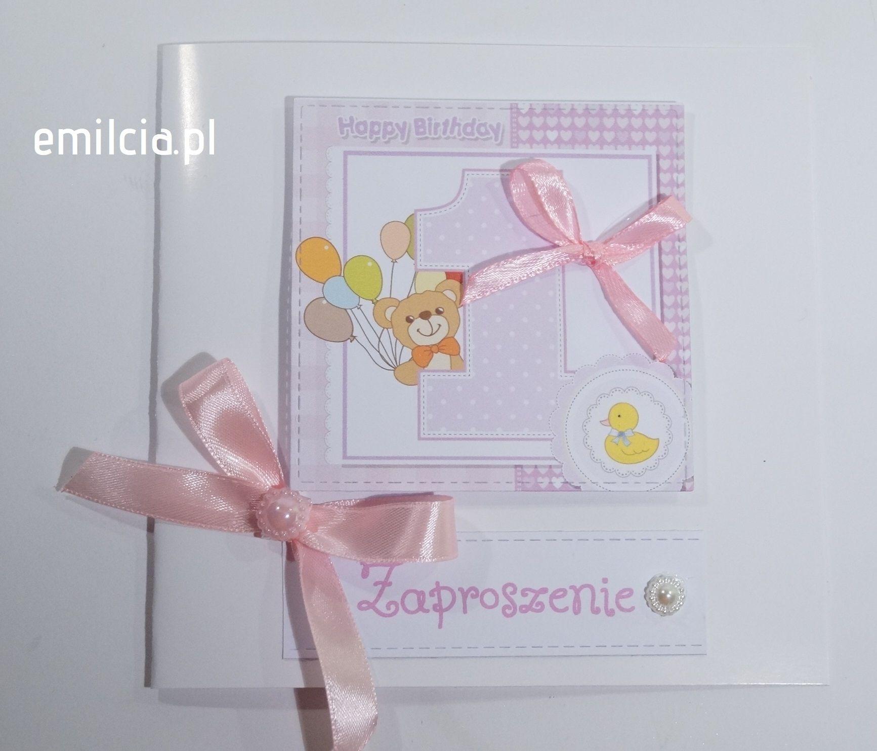 Zaproszenie Na Roczek Zaproszenie Zaproszenia Urodziny