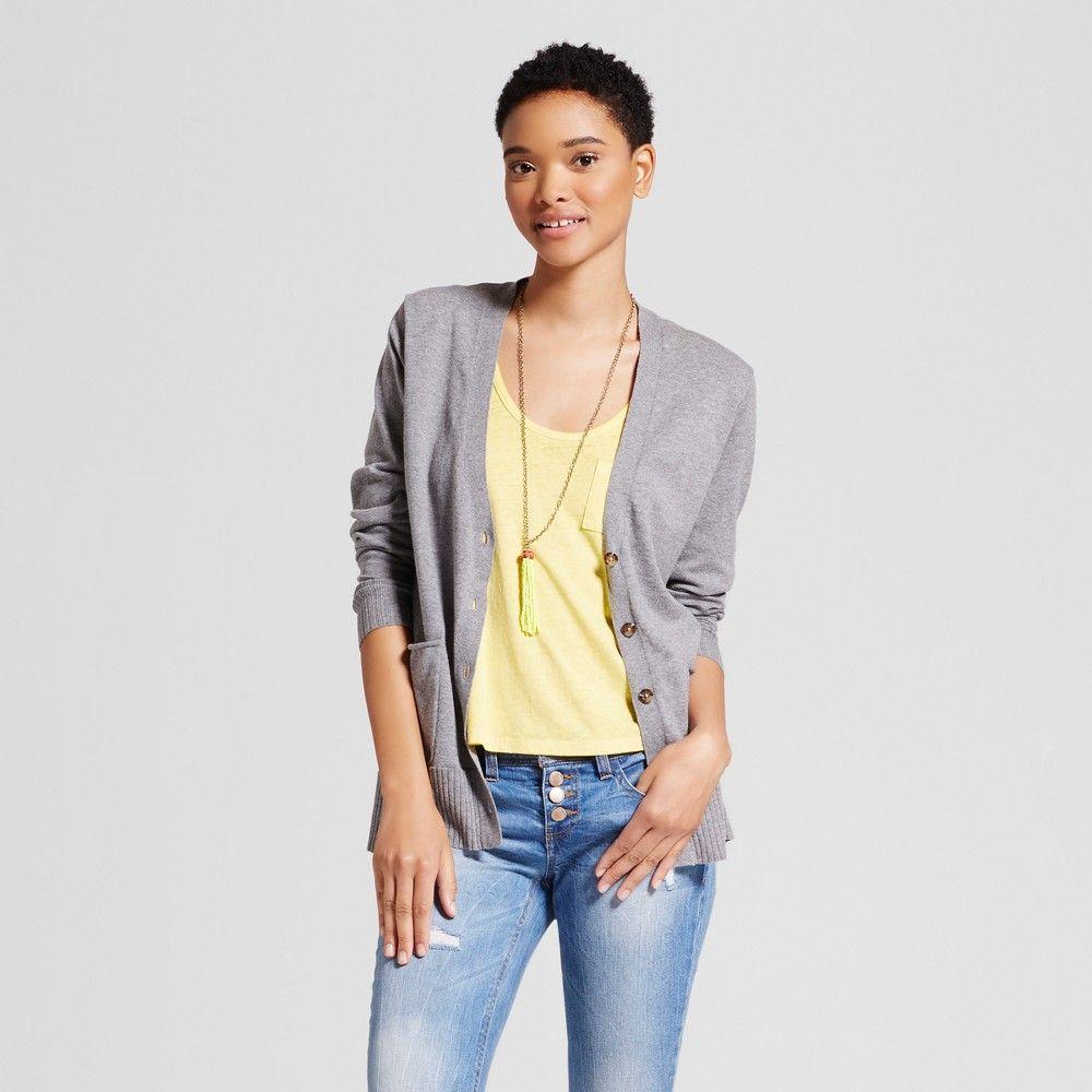 Women's Long Sleeve Boyfriend Cardigan - Mossimo Supply Co ...