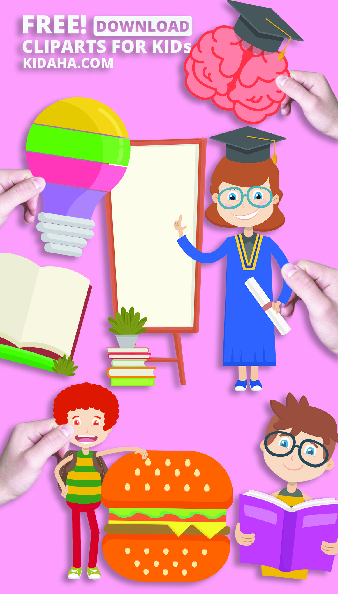 creative kid graphic and cartoon clipart for children or teaching