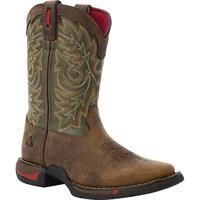 """Rocky Long Range – 8"""" Square Toe Pull On Western Boots for Kids"""