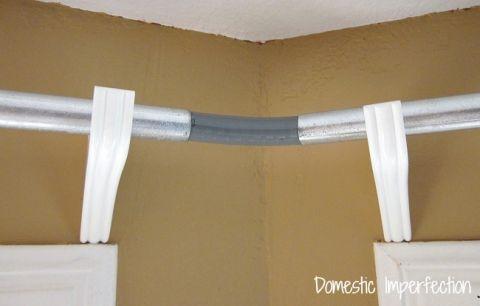 Diy Bay Window Curtain Rod Back Tab Curtains Dining Room