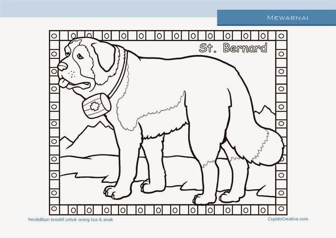 Kerajinan Anak - Mewarnai Anjing St Bernard - Cupido Creative ...