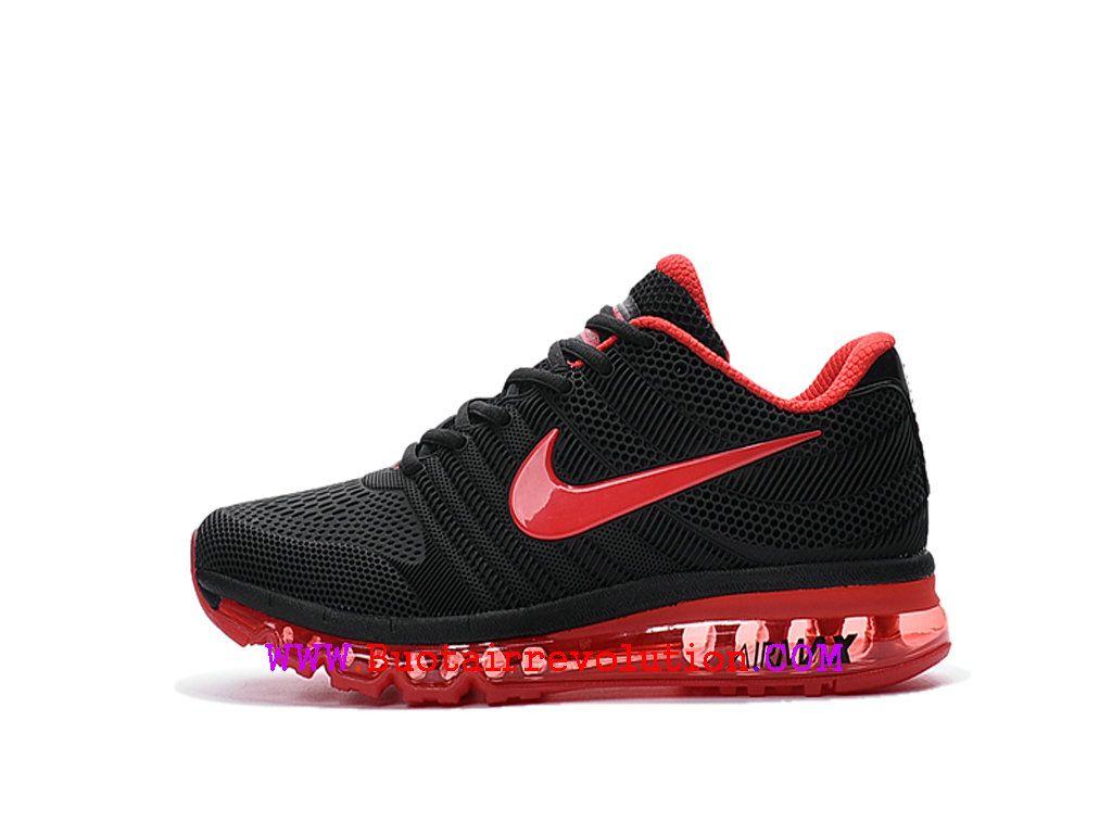 super popular 900e4 181c9 Nike Air Max 2017 Gs Chaussures de Course Coussin Dair Femme Noir rouge  849560-ID6