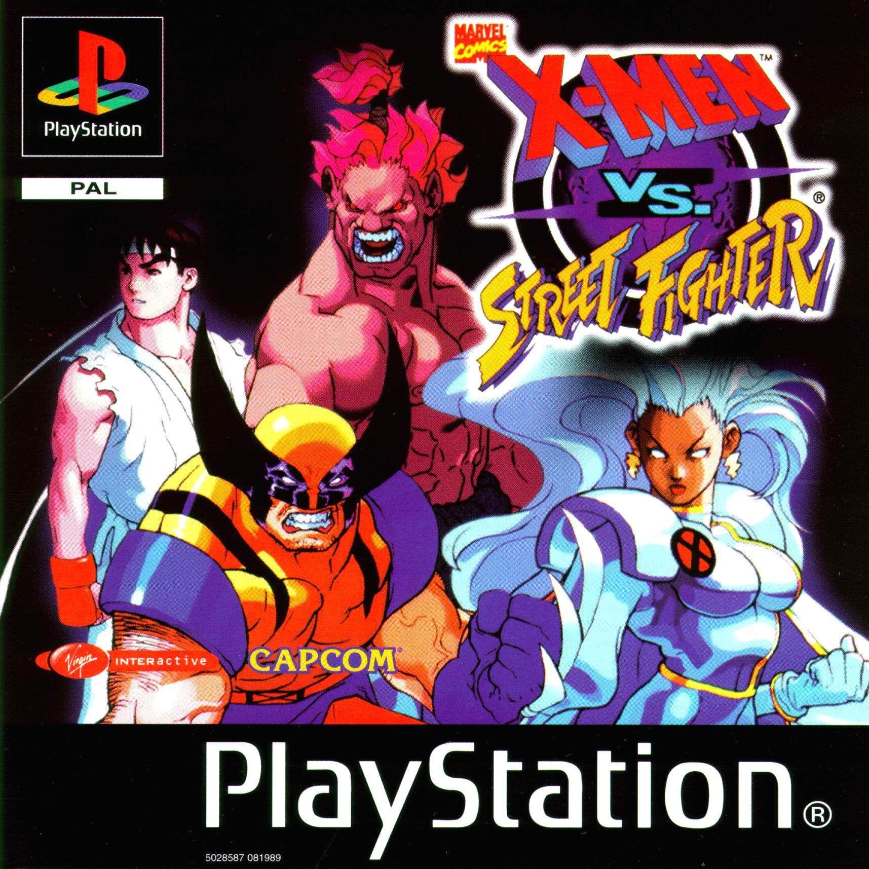 X Men Vs Street Fighter Playstaion 1996 Street Fighter Man Vs Marvel Vs Capcom