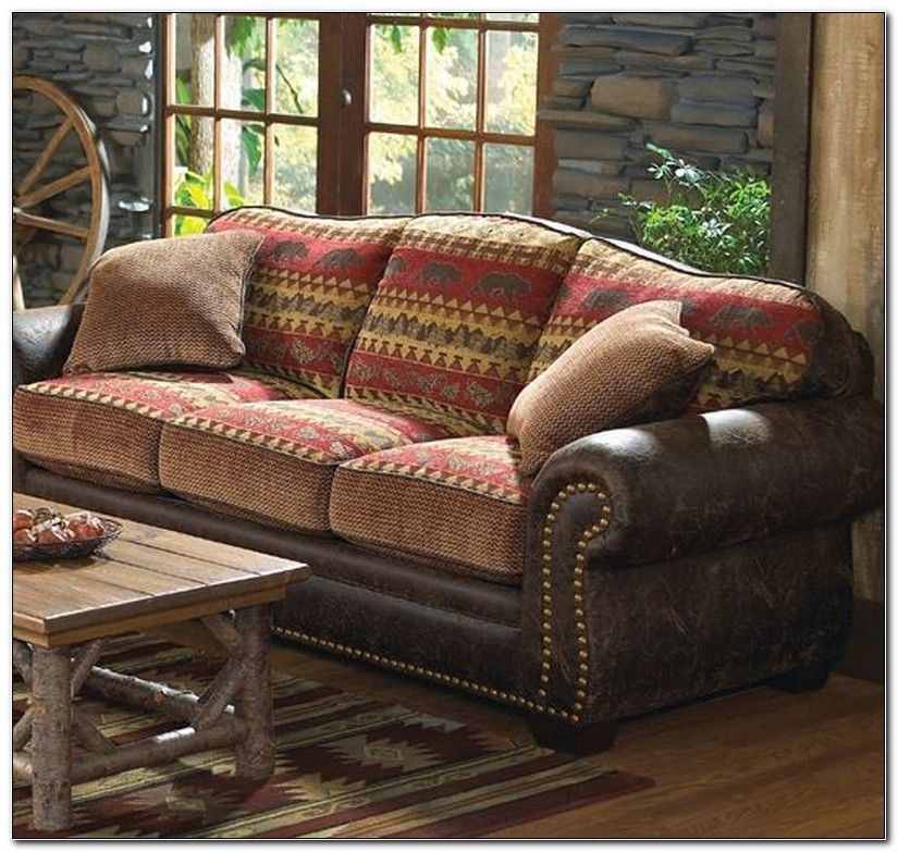 Cabin Sofas Log Cabin Furniture For Rustic Living Room