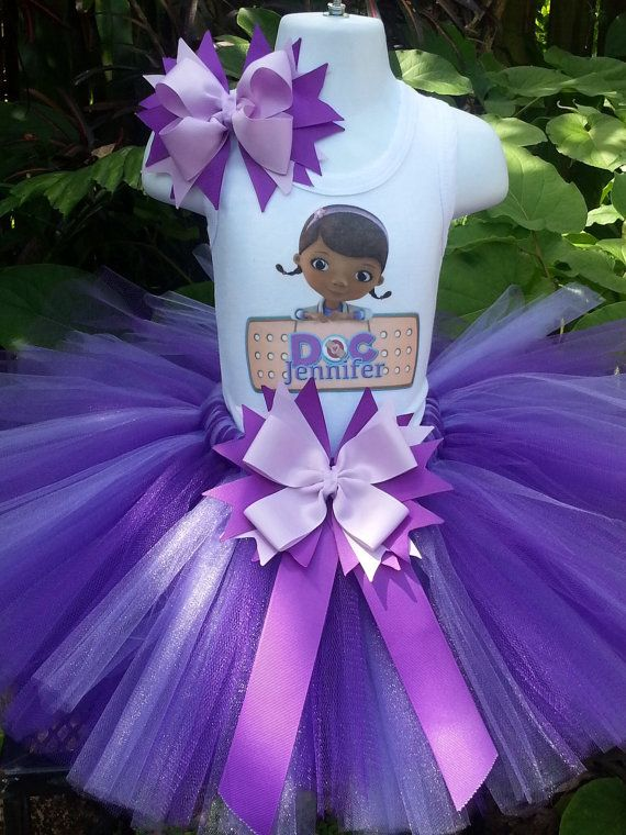 Handmade Doc Mcstuffins inspired Tutu set by Partyadvantage