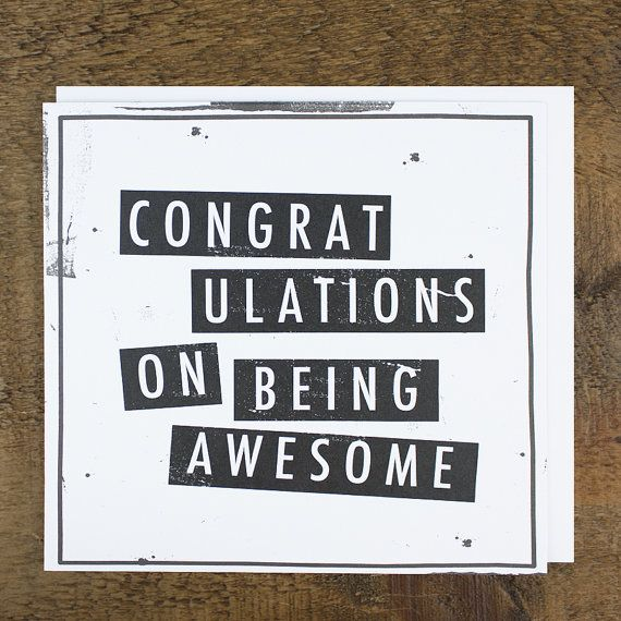 Funny Congratulations \/ Well Done Card Congratulations on Being - job well done
