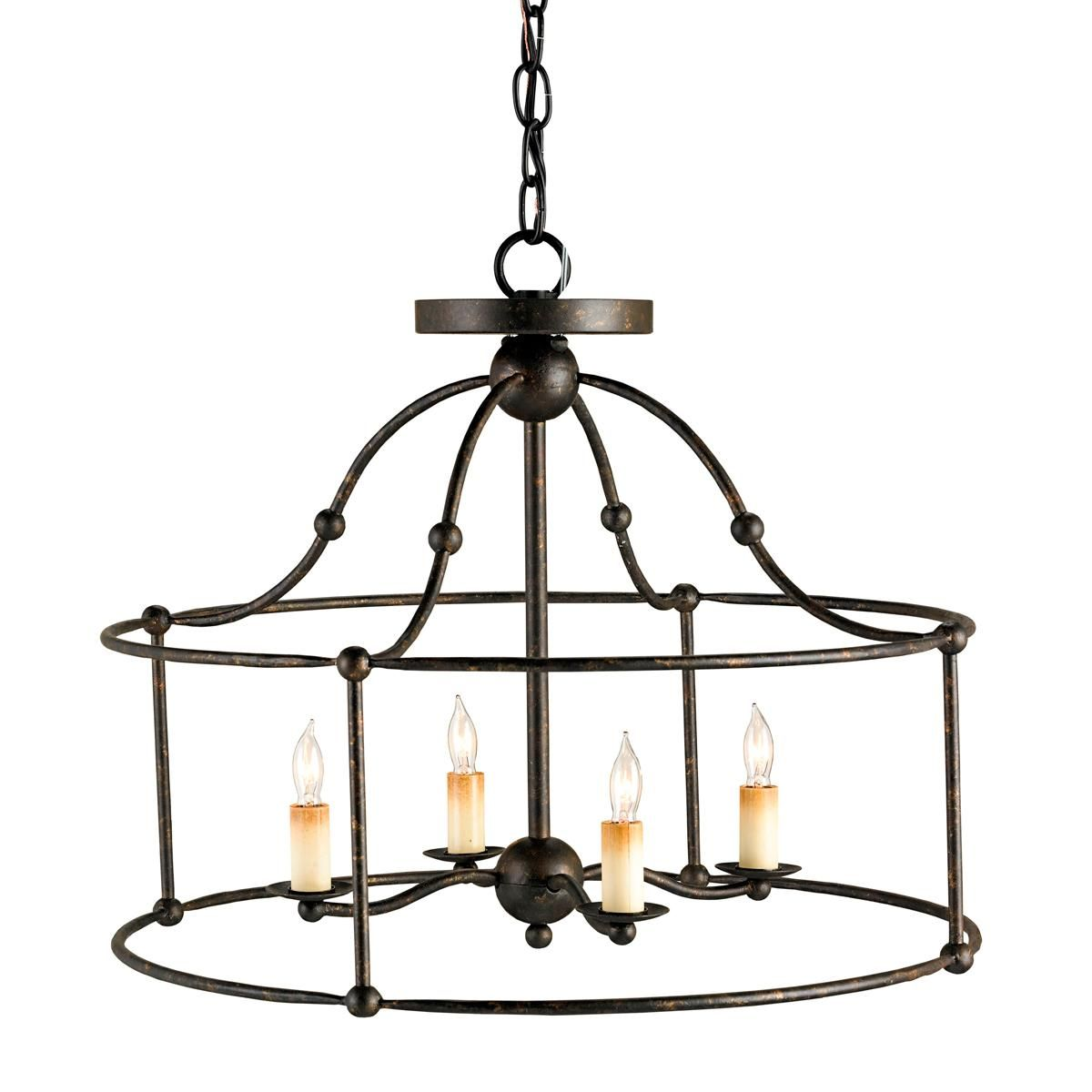Wrought Iron Frame Ceiling Lantern Ceiling Light | Wrought iron ...