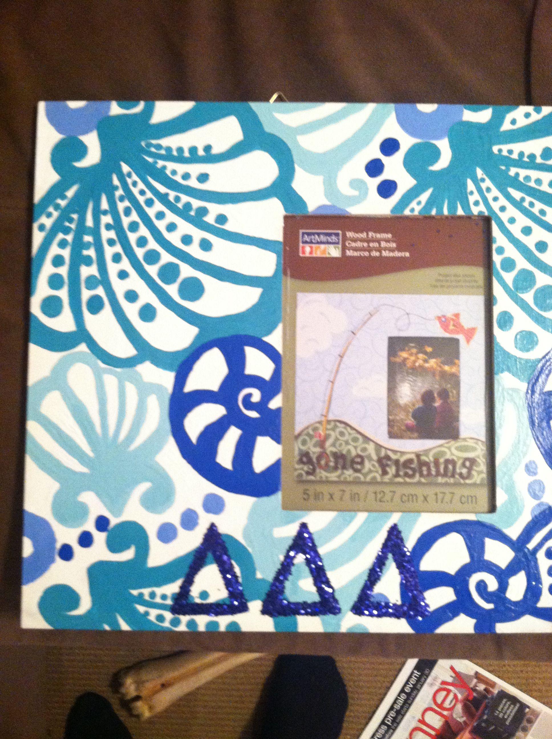 Chiquita Bonita Lilly Pulitzer pattern; tridelta frame I made for ...