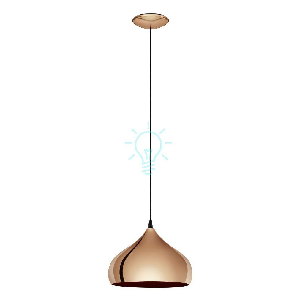 Miedziana lampa zwisająca Hapton 29cm