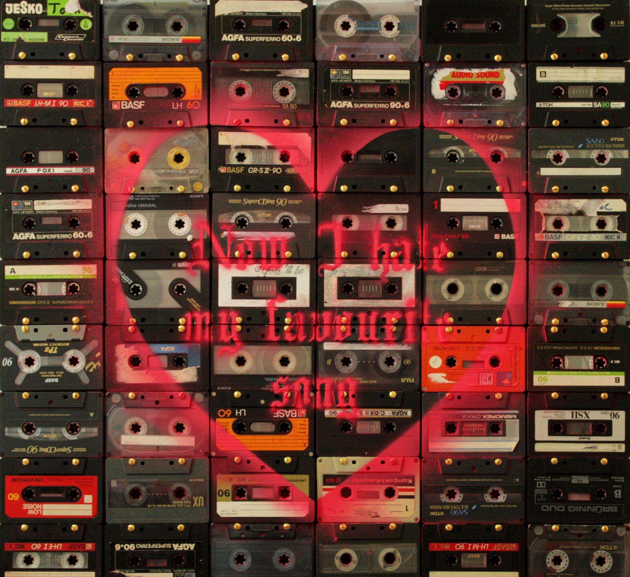 now I hate my favourite song | 2013 #kativonschwerin #art #music #cassette #mixtape #contemporaryart #germanart #berlin  www.kativonschwerin.de