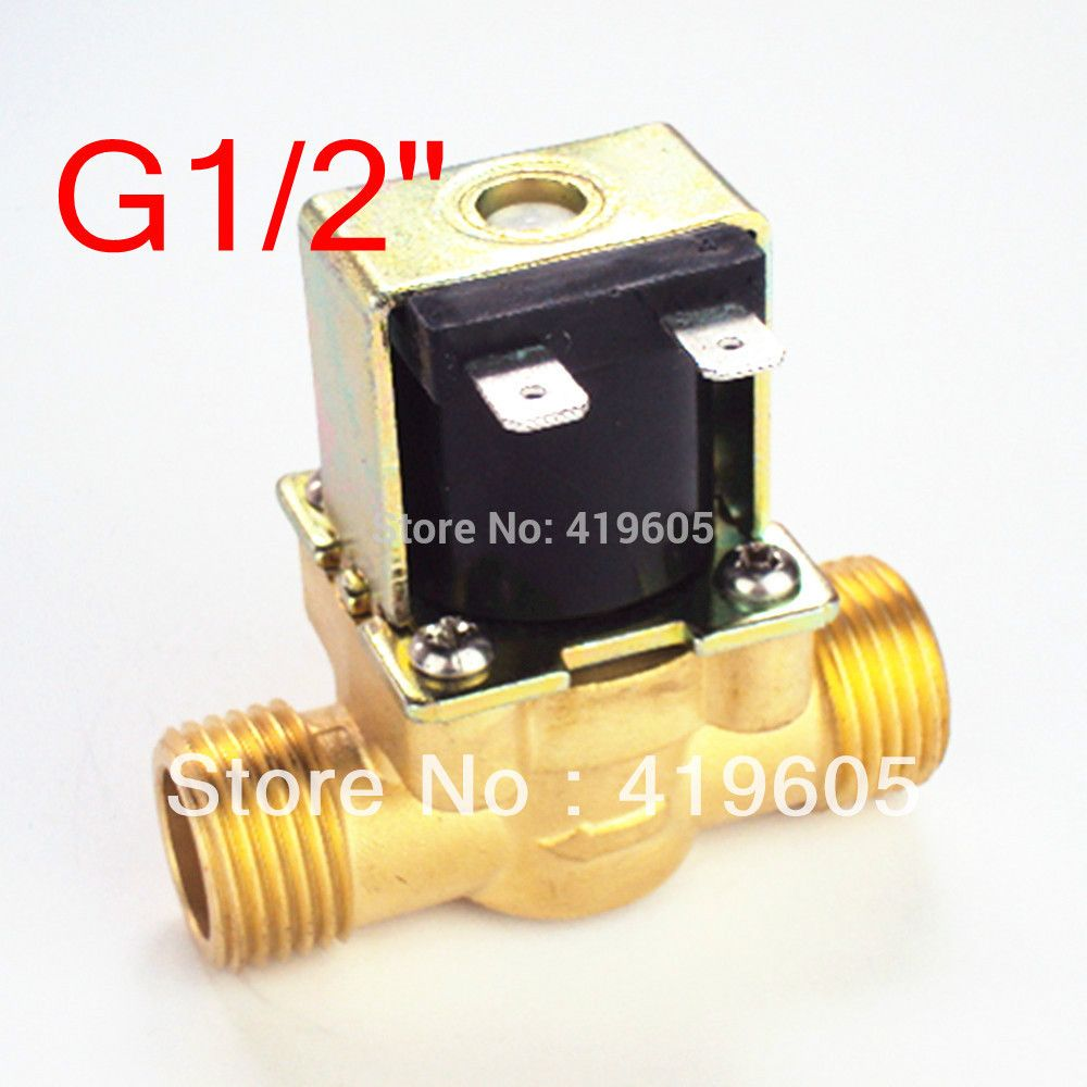 Free Shipping 12vdc Eletric Solenoid Valve 1 2 Normally Closed Copper Body Water Valve Have Filter Plumbing Water Valves Filters Copper