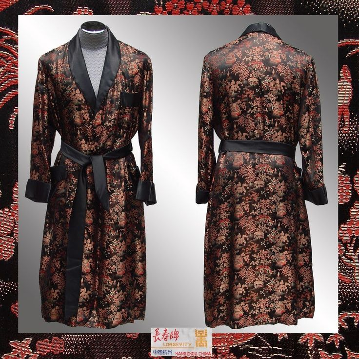 Old Fashioned Silk Dressing Gown For Men Embellishment - Best ...
