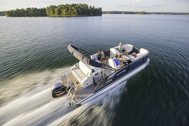 The AP 235 EL Aqua Patio Boat By Godfrey Pontoon Boats Is A World Leading