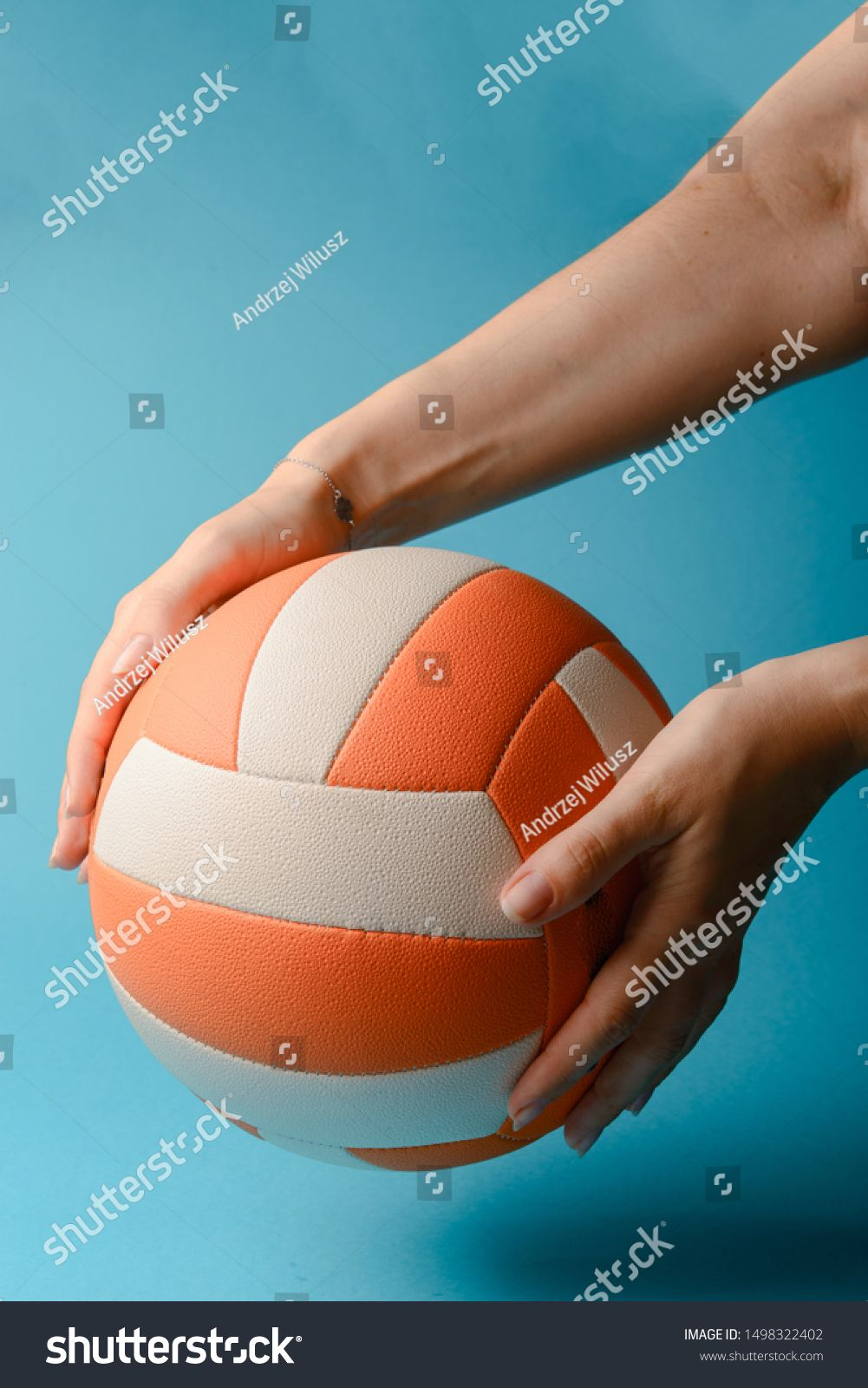 Woman Hold Volleyball In Her Hands Blue Background Ad Ad Volleyball Hold Woman Background In 2020 Volleyball Women Photo Editing