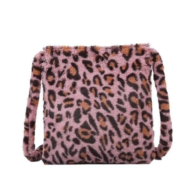 Photo of Leopard Plush Shoulder Bag