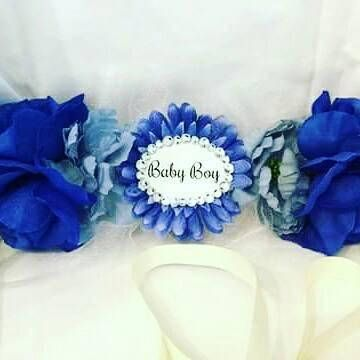 Baby Boy Baby Shower Corsage Bump Sash Belly Sash Maternity Baby Shower Corsage Baby Boy Shower Baby Shower Sash
