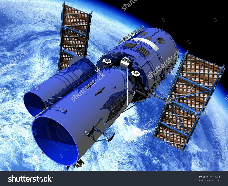 Space Satellite Telescope Stock Illustration 16774735