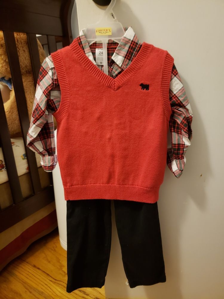 Toddler Boys Christmas Outfit #fashion #clothing #shoes #accessories