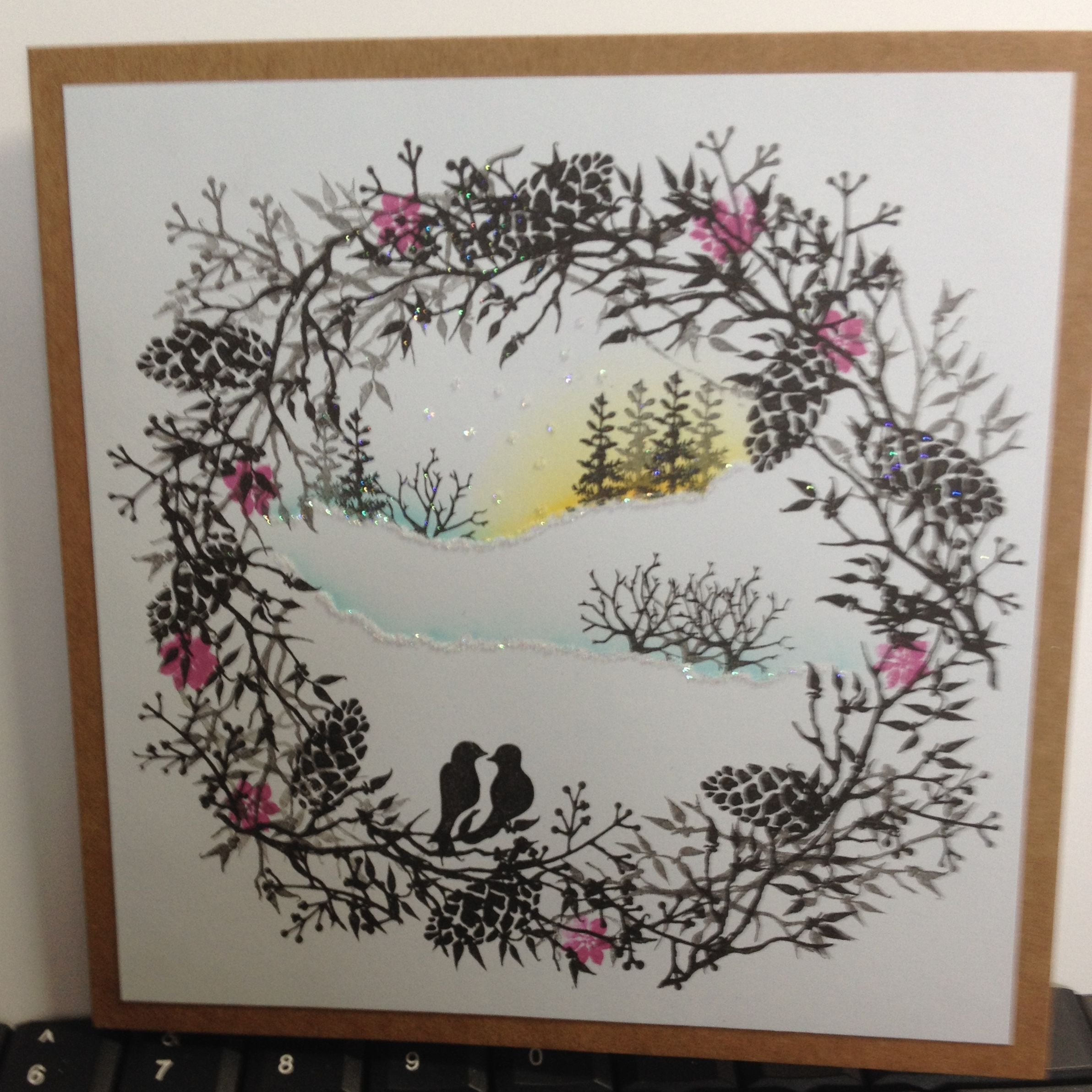 Christmas Cards Made For Mum With