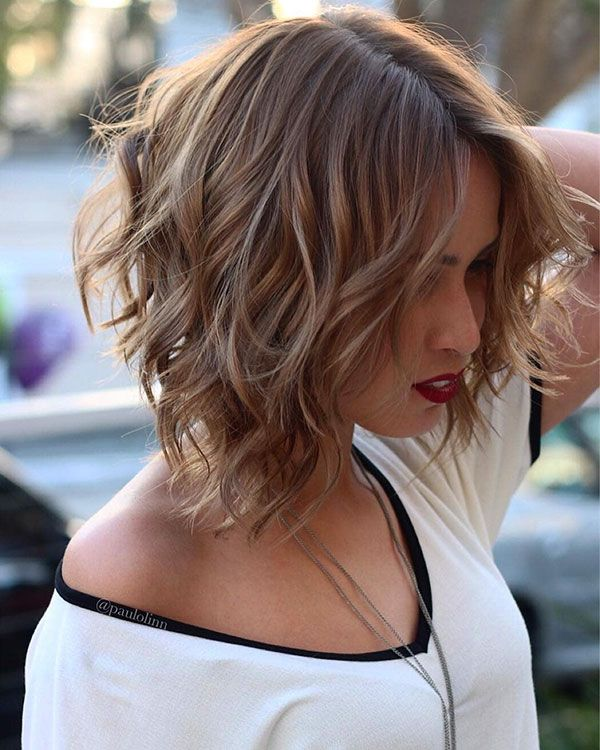60 Best Short Hairstyles 2018 2019 Wavy Bob Hairstyles Short Wavy Hair Short Hair With Layers