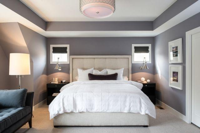 107 idées de déco murale et aménagement chambre à coucher | Chambres ...