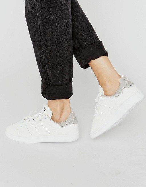 Adidas Adidas Originali In Bianco Serpente Scamosciato Stan Smith
